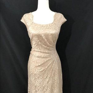 Tahari lace gown